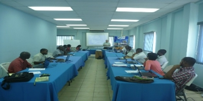 Participants at the training session on fisheries statistical analyses