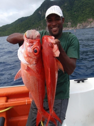 Fisher lands a nice catch in Dominica